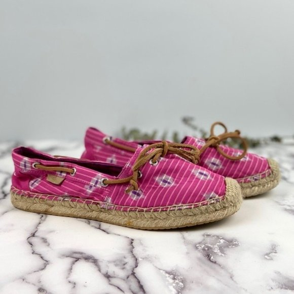 Sperry Top-Sider Pink and Purple Espadrille Flats